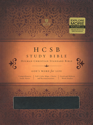 HCSB Study Bible, Black Bonded Leather, Thumb-Indexed   -