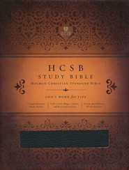 HCSB Study Bible, Black Bonded Leather  -