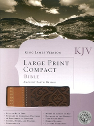 KJV Large Print Compact Ancient Faith Bible, Imitation leather,  brown/tan  -