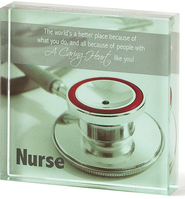 Nurse Glass Plaque  -