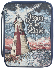 Jesus is the Light Tapestry Bible Cover, Medium  -