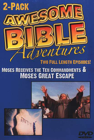 Awesome Bible Adventures: Moses Receives the Ten Commandments  & Moses' Great Escape, DVD  -