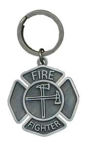 Firefighter Keyring, A Caring Heart  -