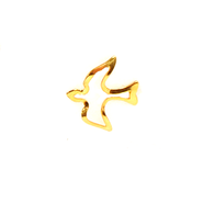 Open Gold Dove Lapel Pin   -