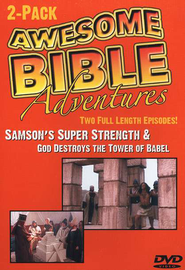 Awesome Bible Adventures: Samson's Super Strength & God Destroys  the Tower of Babel, DVD  -