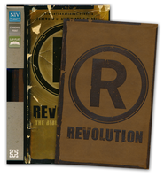NIV Revolution: The Bible for Teen Guys: Updated Edition, Italian Duo-Tone, Brown  -