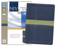 NIV and The Message Side-by-Side Bible, Compact: Two Bible Versions Together for Study and Comparison, Italian Duo-Tone, Midnight Blue/Moss Green  -              By: Zondervan