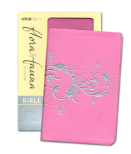 NIV Flora and Fauna Collection Bible, Compact, Italian Duo-Tone, Orchid/Silver Swirls  -              By: Zondervan