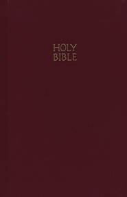 NKJV Pew Bible, Hardcover, Burgundy   -