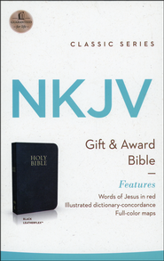 NKJV Gift & Award Bible, Imitation leather, Black   -