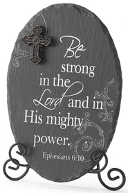 Be Strong in the Lord Plaque  -