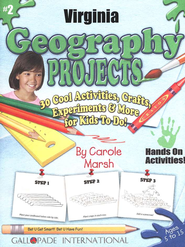 Virginia Geography Project Book, Grades 3-8  -     By: Carole Marsh