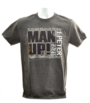 Be The Man God Called You to Be, Man Up Shirt, Gray, Large  -
