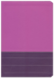 NIV Life Application Study Bible, Large Print, Italian Duo-Tone, Dark Orchid/Plum  -