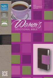 NIV Women's Devotional Bible, Compact, Italian Duo-Tone, Chocolate/Orchid  -