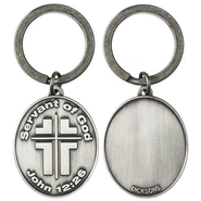Servant of God Pewter Keyring  -