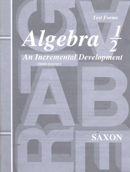 Saxon Algebra 1/2 Test Forms, 3rd Edition   -     By: Saxon