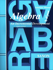 Saxon Algebra &#189, Third Edition, Solutions Manual  - Slightly Imperfect  -