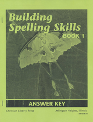 Building Spelling Skills Book 1 Answer Key, Second Edition  -