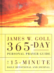 James W. Goll 365 Day Personal Prayer Guide: A 15-Minute Daily Devotional & Journal  -     By: James W. Goll