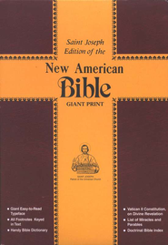 St. Joseph New American Bible (Giant Type Edition)  -