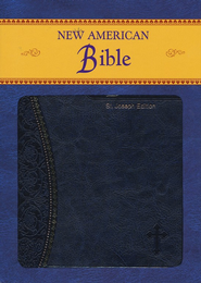 St. Joseph, New American Bible, Blue, Imitation Leather, Medium, Gift Edition  -