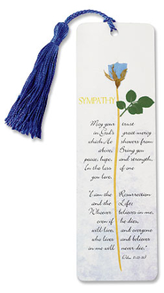 I am the Resurrection Grace Sympathy Bookmark  -