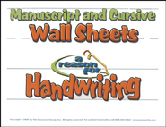 A Reason For Handwriting: Manuscript/Cursive Wall Sheets   -              By: Homeschool