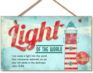 Light of the World Wood Sign  -