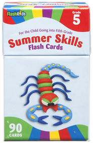 Summer Skills, Grade 5, Flash Cards  -