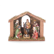 One Piece Nativity With Creche   -