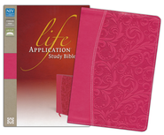 NIV Life Application Study Bible, Imitation Leather, Honeysuckle Pink - Slightly Imperfect  -