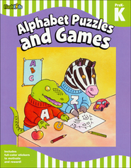 Alphabet Puzzles and Games: Grade Pre-K-K  -