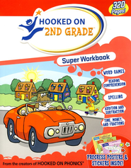 Hooked on Phonics: Second Grade Super Workbook   -