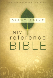 NIV Reference Bible, Giant Print, Thumb-Indexed   -