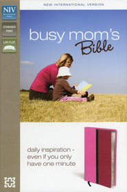 NIV Busy Mom's Bible, Pink/Hot Pink Duo-Tone  -