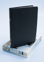 NIV Thinline Large-Print Bible-bonded leather, navy Thumb-Indexed   -