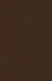 NIV Church Bible, Brown - Slightly Imperfect  -
