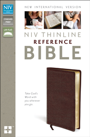 NIV Thinline Reference Bible, Burgundy  -