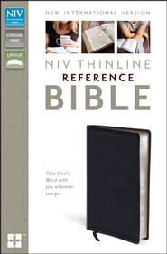 NIV Thinline Reference Bible, Black - Slightly Imperfect  -