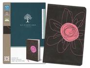 NIV Student Bible, Compact, Italian Duo-Tone,  Espresso/Pink Flower - Slightly Imperfect  -