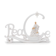 Peace Figurine with Holy Family, White  -