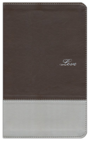 NIV Couples' Devotional Bible, Italian Duo-Tone, Chocolate/Silver - Imperfectly Imprinted Bibles  -