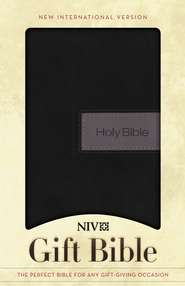 NIV Gift Bible, Black/Gray Duo-Tone  -