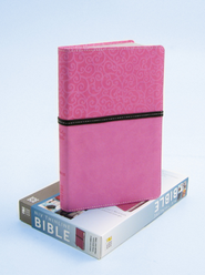 NIV Thinline Bible, Pink/Brown Duo-Tone - Imperfectly Imprinted Bibles  -