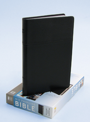 NIV Thinline Bible, Duo-Tone, Black  - Imperfectly Imprinted Bibles  -