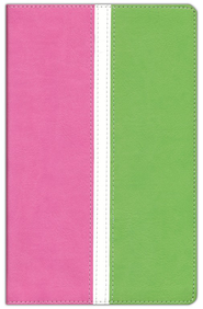 KJV Busy Mom's Bible, Italian Duo-Tone, Pink/Spring   Green  -