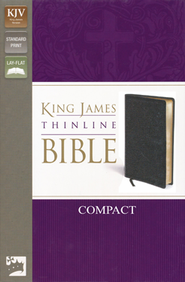 KJV, Thinline Bible Compact, Bonded Leather, Black  -