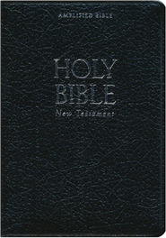 Amplified Pocket-Thin New Testament, Bonded Leather, Black  -