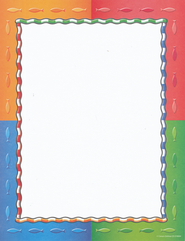 Fish Symbols & Stripes Stationery   -